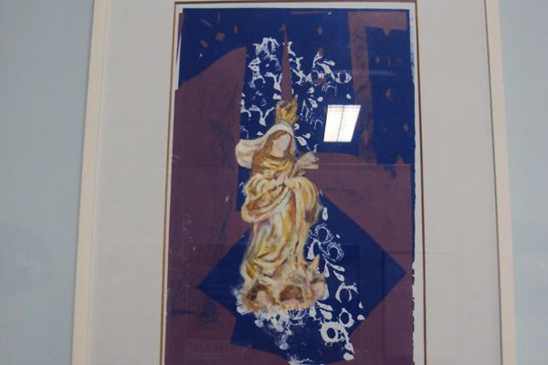 Título: Nossa Senhora Artista: Vanda Jardim Ano: 2009 Técnica: litogravura