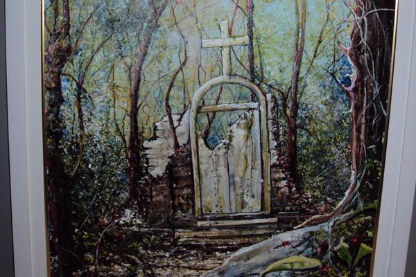 Título: Igreja em ruínas Artista: Anderson Kelly Ano: 2010 Técnica: acrílico s/ tela